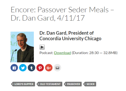 Seder Meal Conversation